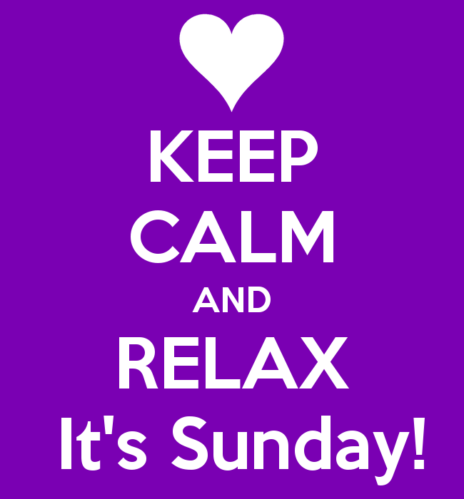 Keep Calm its Sunday