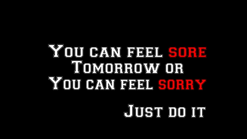 feel sore or feel sorry