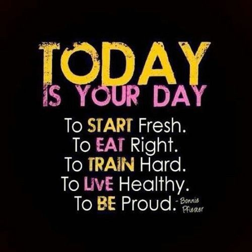 Today is the day to exercise