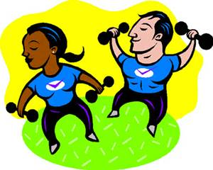 cartoon exercising